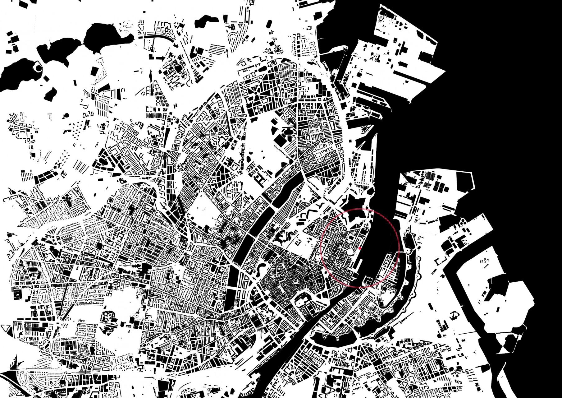 Le projet est localisé au bord de l'Öresund à proximité de centres très touristiques de la ville de Copenhague.