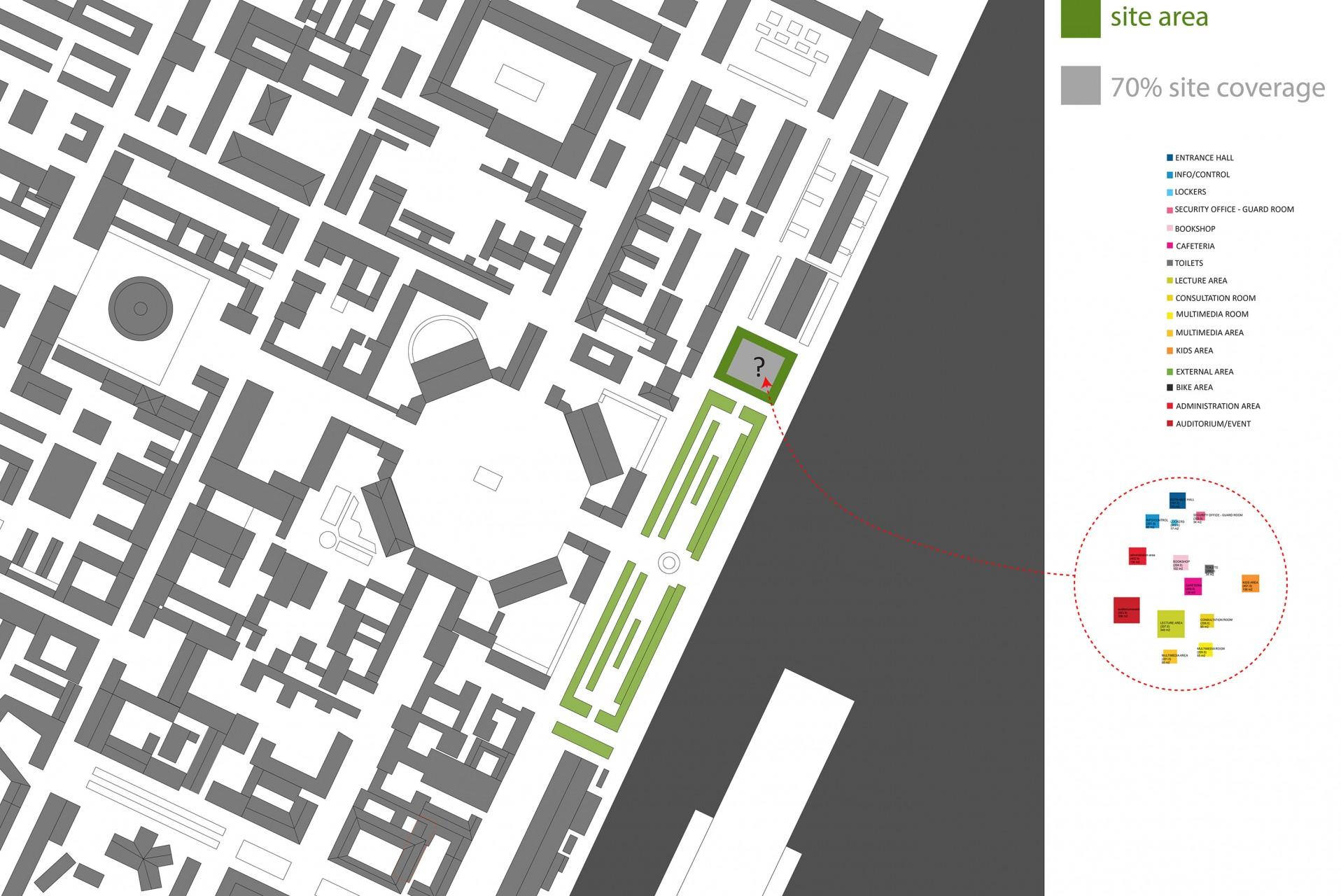 Nous devons laissé 30% d'espace vert sur la parcelle et intégré un programme de 1700m2.
